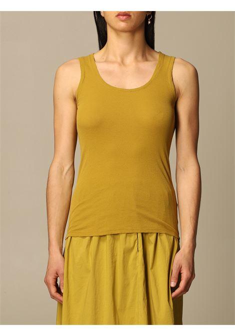 Mustard yellow cotton slim-fit tank top  TRANSIT |  | CFDTRN-I18003