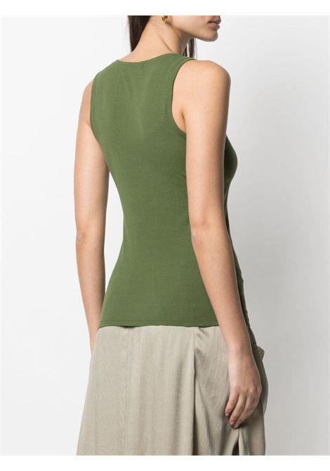 Khaki green cotton slim-fit tank top  TRANSIT |  | CFDTRN-I18014