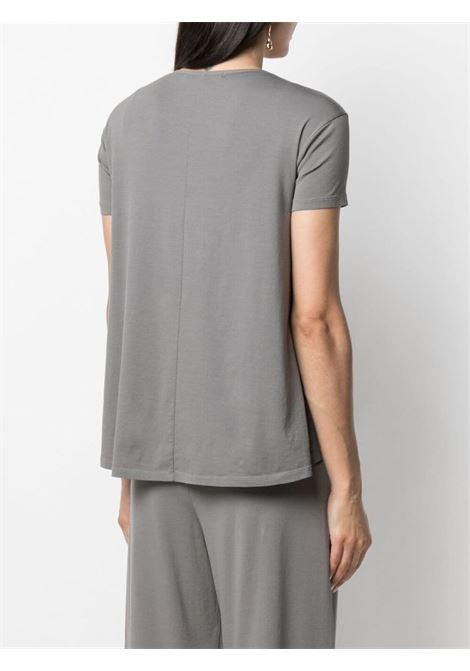 Grey stretch cotton drawstring crew-neck T-shirt  TRANSIT |  | CFDTRN-J19812