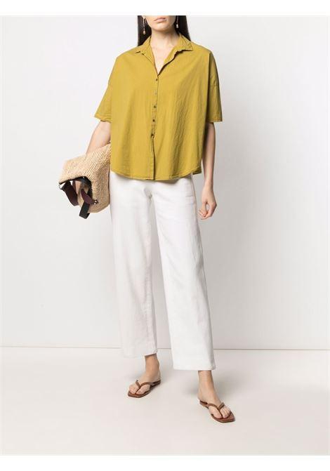 Camicia con orlo curvo in cotone giallo Piton TRANSIT | Camicie | CFDTRN-M22303