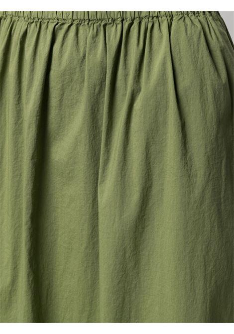 Khaki green cotton blend high-rise midi skirt  TRANSIT |  | CFDTRN-M22414