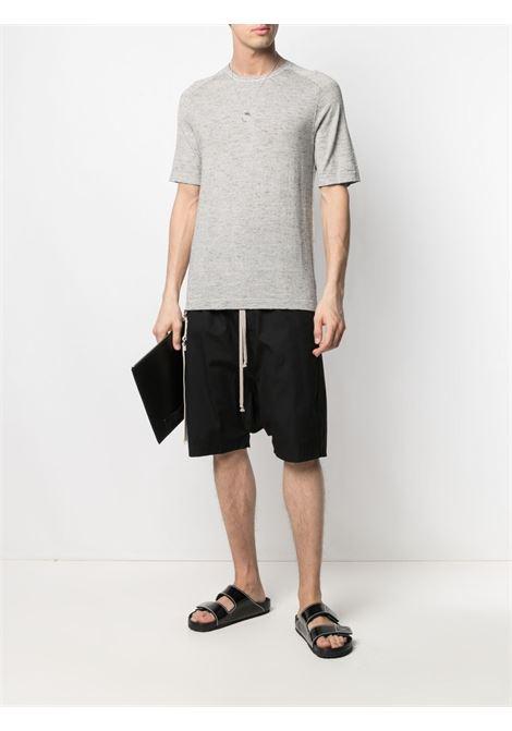 Grey cotton and silk round neck striped T-shirt  TRANSIT |  | CFUTRN-10450U301