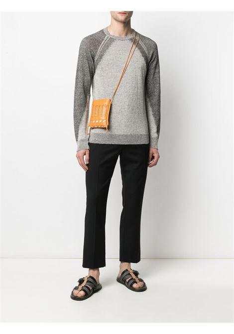Maglione a coste in cotone grigio tono su tono TRANSIT | Maglieria | CFUTRN-13480U301