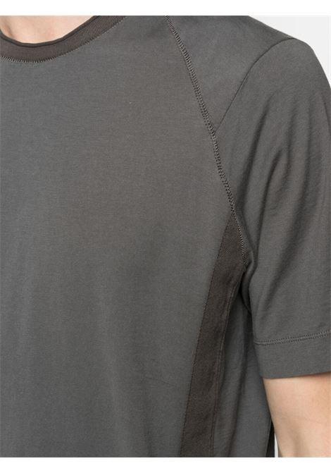 T-shirt con colletto a costine in cotone grigio antracite TRANSIT | T-shirt | CFUTRN-1362U12