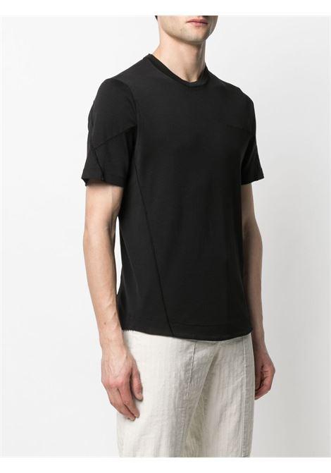 T-shirt nera in cotone con cuciture tono su tono TRANSIT | T-shirt | CFUTRN-3381U10