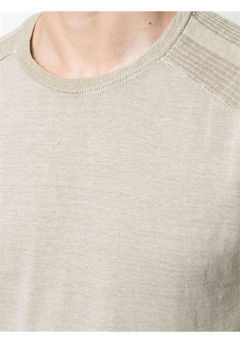 Maglione a maniche lunghe con bordo a coste in lino beige chiaro TRANSIT | T-shirt | CFUTRN-4390U02