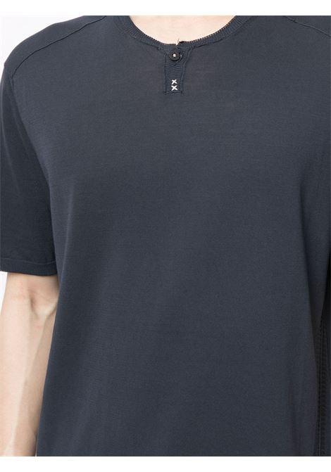 T-shirt a maniche corte in cotone blu spazio TRANSIT | T-shirt | CFUTRN-7421U05