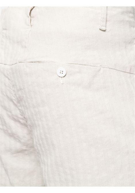 Pantaloni a righe panna in cotone e lino TRANSIT | Pantaloni | CFUTRN-H170U101