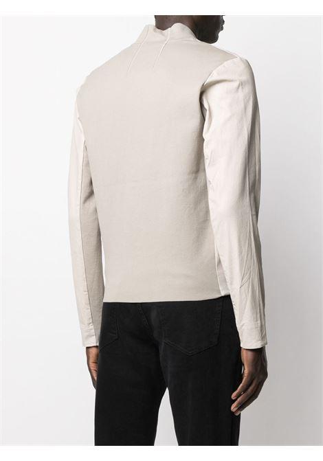 Bomber con zip in cotone e pelle color crema TRANSIT | Giubbini | CFUTRN-S282U02