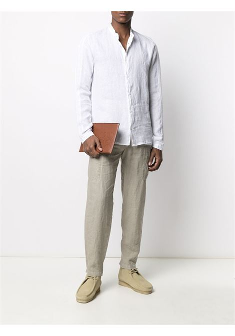 White linen collarless long-sleeve shirt  TRANSIT |  | CFUTRN-V312U00