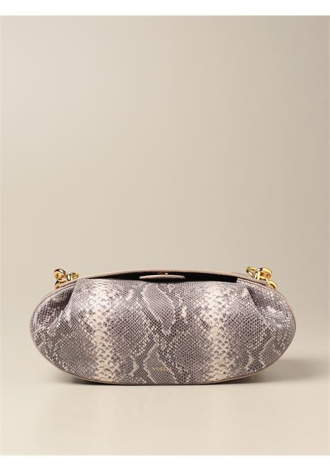 Grey leather snakeskin effect Baton shoulder bag  YUZEFI |  | BATON-YUZSS21-HB-BTSN01