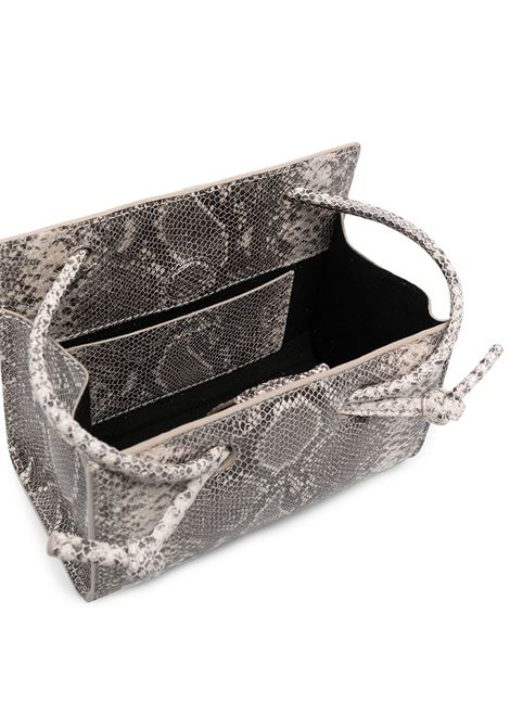Mink leather Mini Taco grey snakeskin-effect shoulder bag YUZEFI |  | MINI TACO-YUZSS21-HB-TMSN01