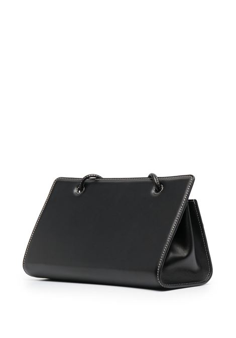 Black leather Taco shoulder bag featuring Yuzefi logo print to the front YUZEFI |  | TACO-YUZCO-HB-TC00