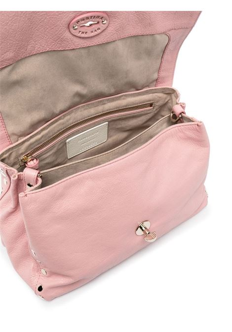 Light pink small Postina leather tote bag featuring gold-tone hardware ZANELLATO |  | 6120-BO43