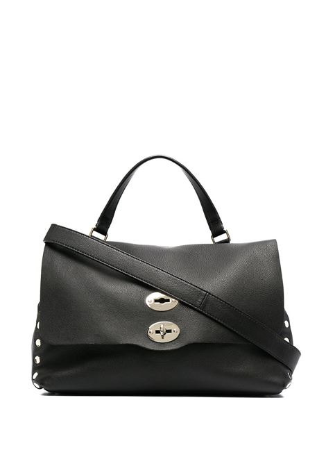 Black leather medium Postina tote bag featuring pebbled texture ZANELLATO |  | 6134-HR02