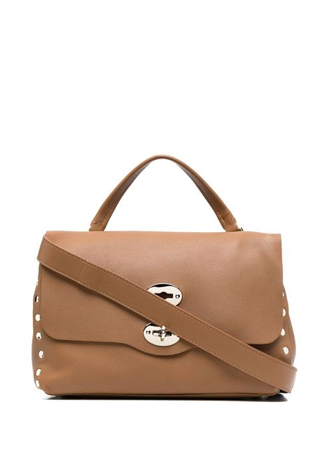 Brown leather Postina tote bag featuring pebbled texture ZANELLATO |  | 6138-HRC3