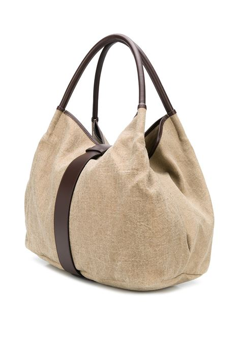 Beige and brown leather large Zoe tote bag  ZANELLATO |  | 6413-TB09