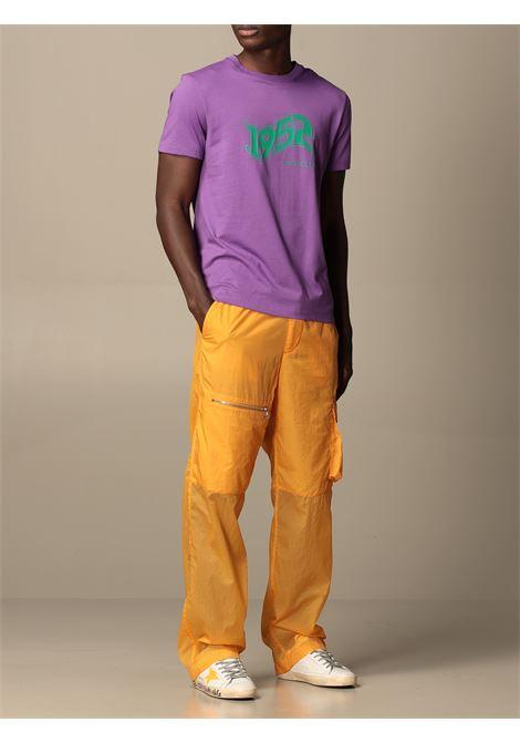 T-shirt in cotone viola a mezze maniche con logo Moncler 1952 turchese MONCLER GENIUS | T-shirt | 8C731-10-829FB63E