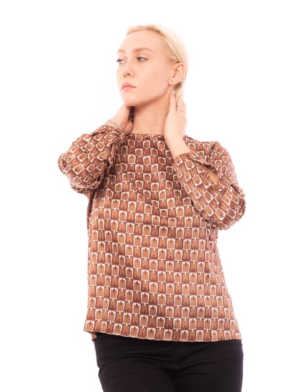 camicia in twill stampato