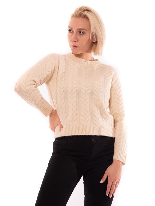 maglia con trecce