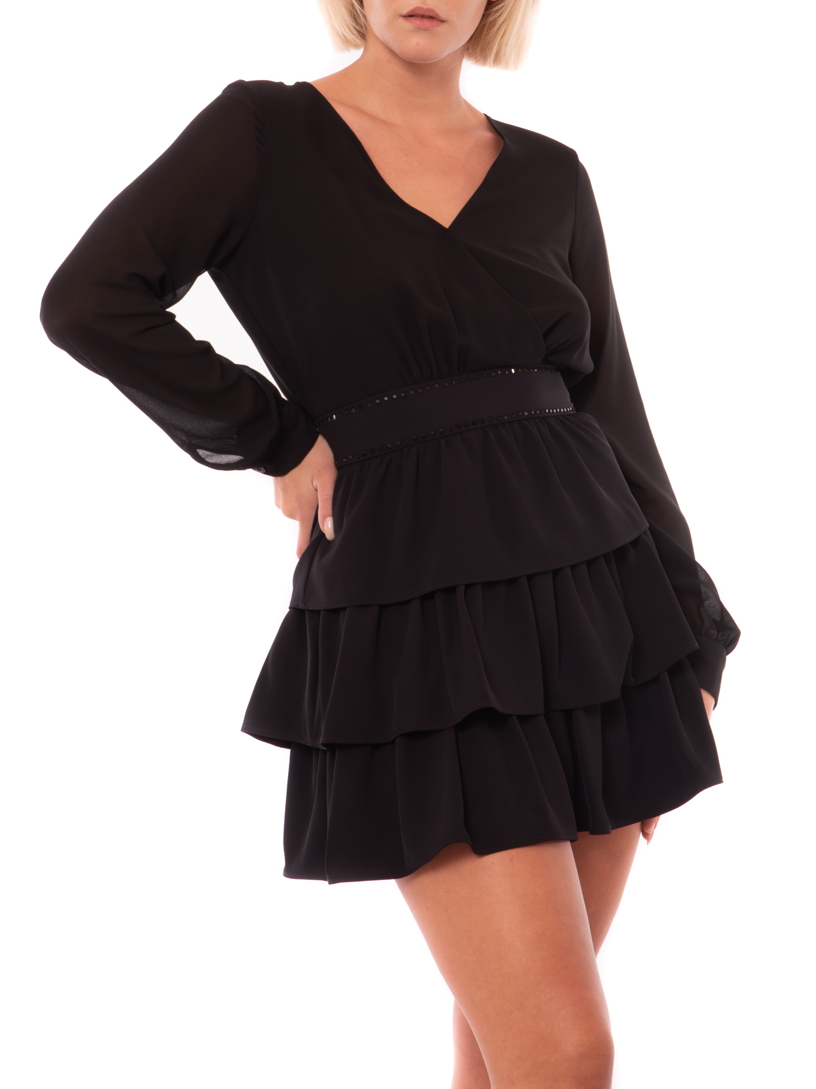 Short dress with flounces