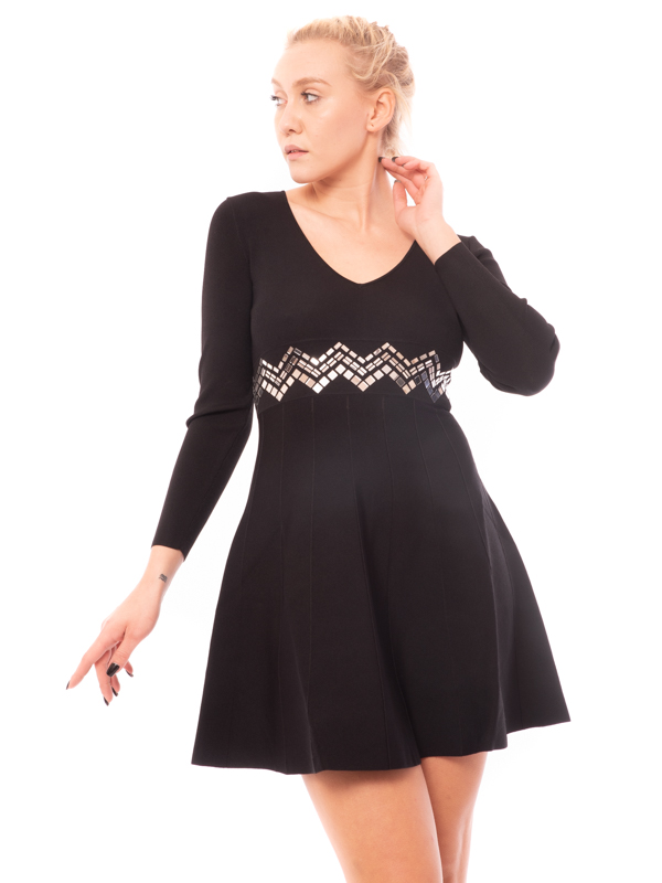 Kint dress with little mirrors
