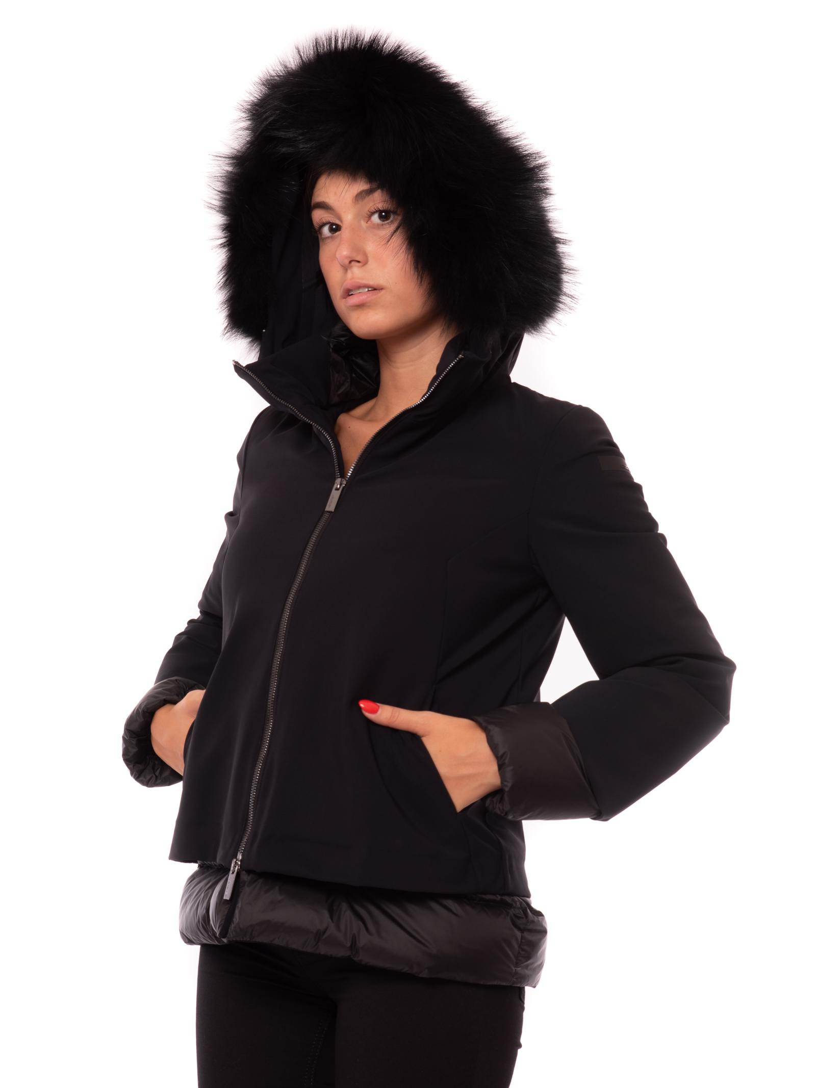 winter light storm lady fur