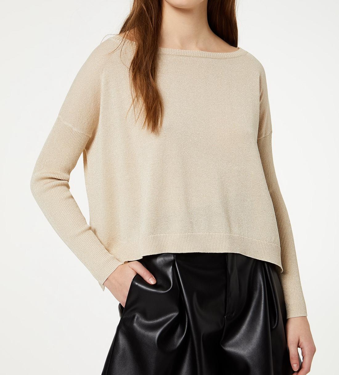 maglia chiusa costa lurex