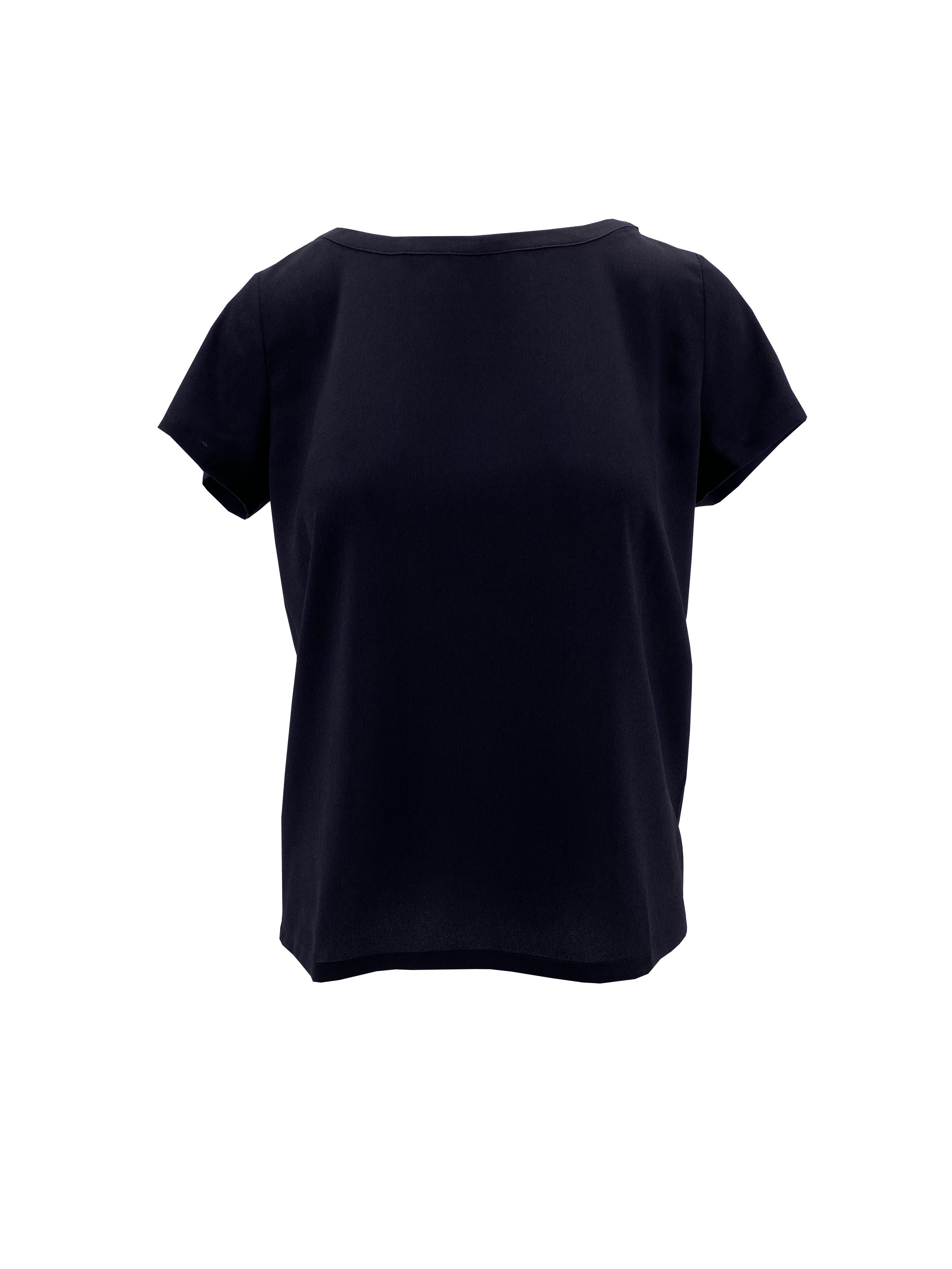 T-Shirt in crepe de chine