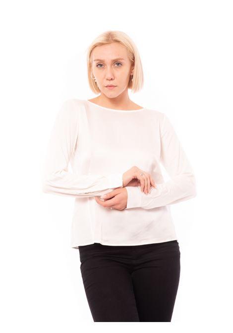 Blusa bimateriale