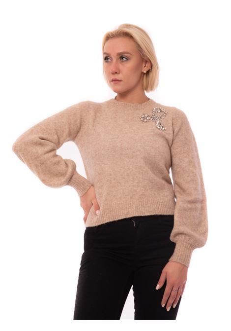 maglia over con strass