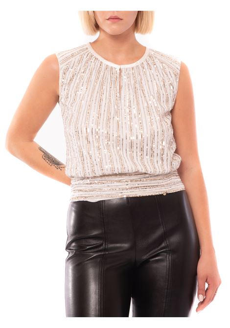 blusa in paillettes