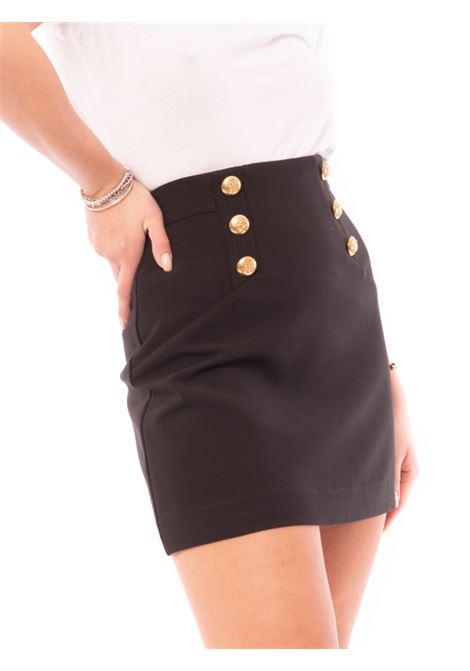 mini double crepe skirt