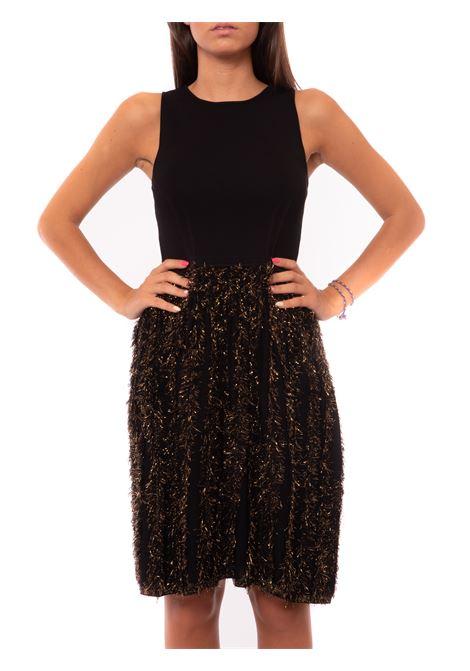 Short dress with lurex fringe skirt