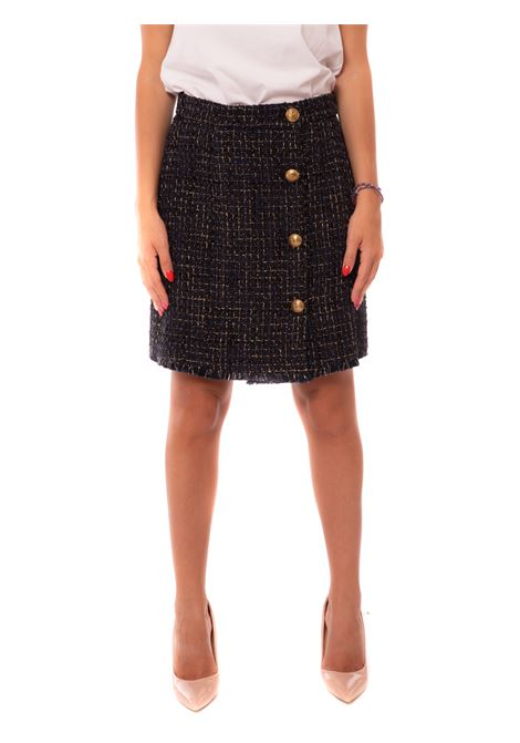 lurex tweed mini skirt