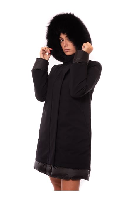 winbter light long lady fur