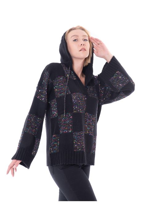 circus hotel oversize hooded sweater
