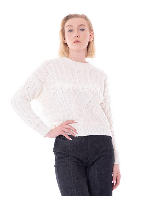 kaos maglione con frange