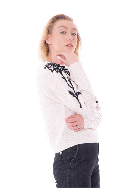 kaos maglione con ricamo