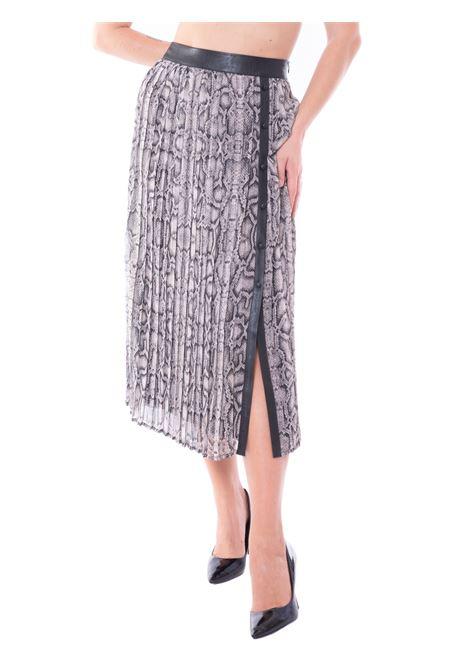 liu jo long pleated skirt