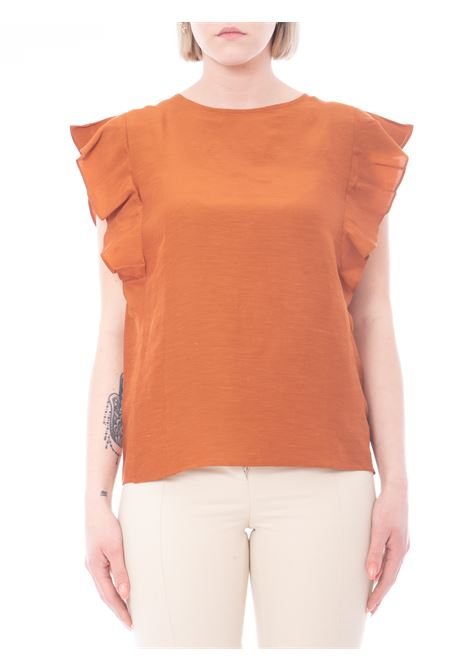 top in misto lino EMME MARELLA