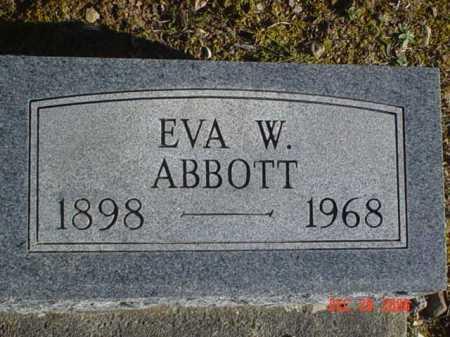 ABBOTT, EVA W. - Adams County, Ohio   EVA W. ABBOTT - Ohio Gravestone Photos