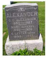 ALEXANDER, S. LESTER - Adams County, Ohio | S. LESTER ALEXANDER - Ohio Gravestone Photos