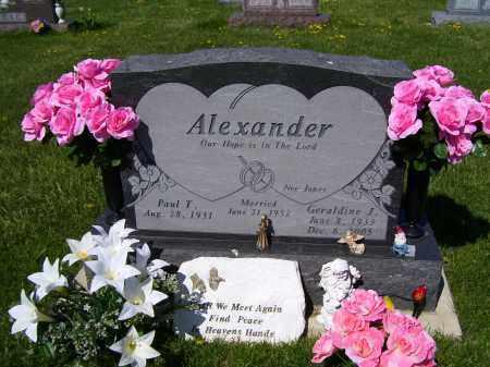 ALEXANDER, GERALDINE J. - Adams County, Ohio | GERALDINE J. ALEXANDER - Ohio Gravestone Photos