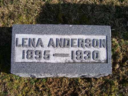 ANDERSON, LENA - Adams County, Ohio | LENA ANDERSON - Ohio Gravestone Photos