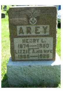 AREY, LIZZIE A. - Adams County, Ohio | LIZZIE A. AREY - Ohio Gravestone Photos