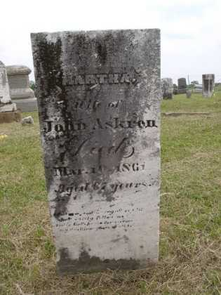 ASKREN, MARTHA - Adams County, Ohio   MARTHA ASKREN - Ohio Gravestone Photos
