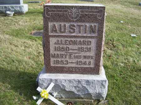 AUSTIN, J. LEONARD - Adams County, Ohio | J. LEONARD AUSTIN - Ohio Gravestone Photos