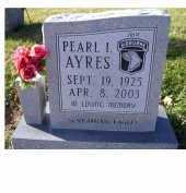 AYRES, PEARL I. - Adams County, Ohio   PEARL I. AYRES - Ohio Gravestone Photos