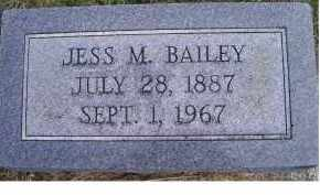 BAILEY, JESS M. - Adams County, Ohio | JESS M. BAILEY - Ohio Gravestone Photos